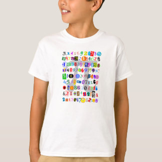 Colorful and Fun Depiction of Pi T Shirts