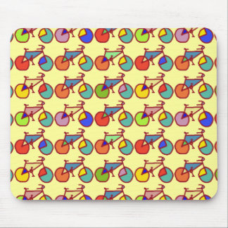 colorful bikes pattern mouse pad