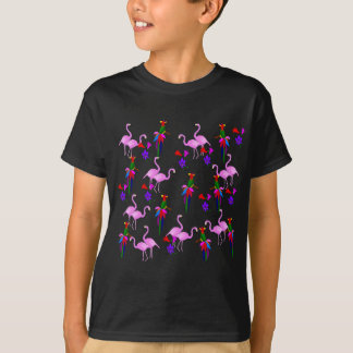 Colorful Birds and Pink Flamingos Tees