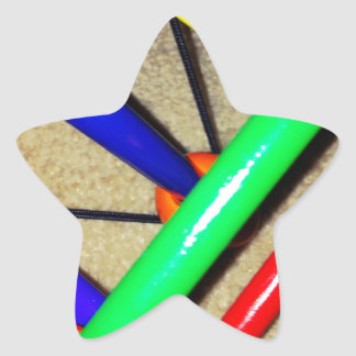 Colorful Blue Red Green Yellow Children's Toy Star Sticker