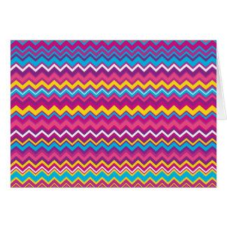 Colorful Chevron Zig Zag Pattern Greeting Card