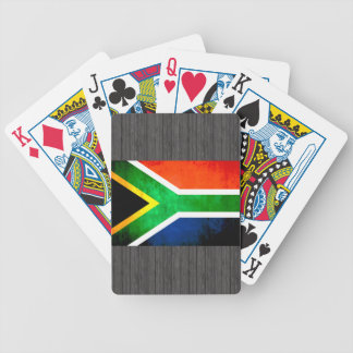 Colorful Contrast South AfricanFlag Card Decks