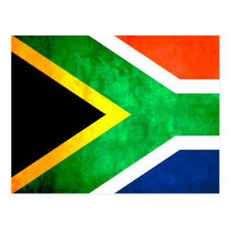 Colorful Contrast South AfricanFlag Postcard