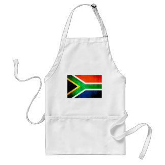 Colorful Contrast South AfricanFlag Standard Apron