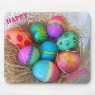 Colorful Easter Eggs Mouse Pad