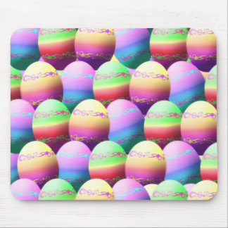Colorful Easter Eggs Pattern Mouse Pad
