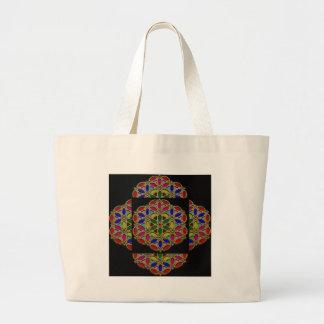 Colorful Ethnic Necklace Pendent jewel art on gift Jumbo Tote Bag