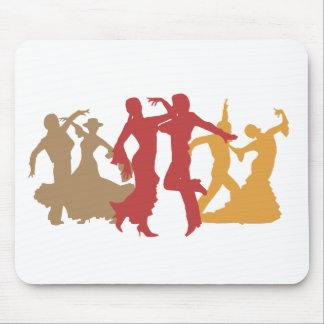 Colorful Flamenco Dancers Mouse Pad