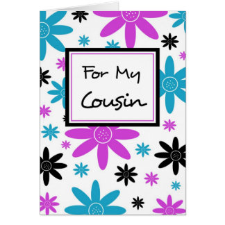 Colorful Floral Cousin Flower Girl Inivtation Card