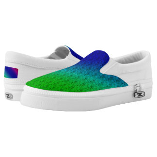 Colorful Flower 1 & Stripes Slip On Unisex Shoes Printed Shoes