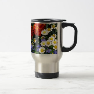Colorful Flowerbed Stainless Steel Travel Mug