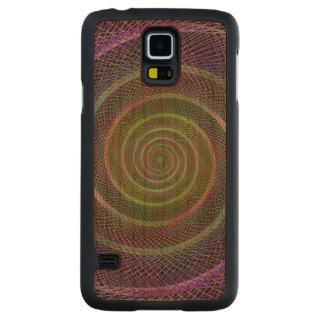 Colorful fractal spiral cherry galaxy s5 case
