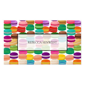 Colorful French Macarons Pastry Pack Of Standard Business Cards
