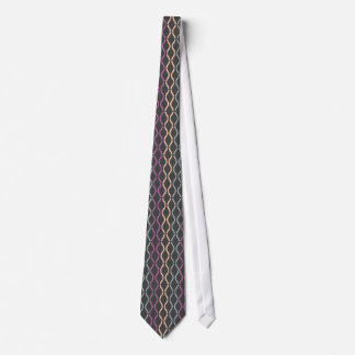 Colorful Funky Retro Geometric Pattern 3a Tie