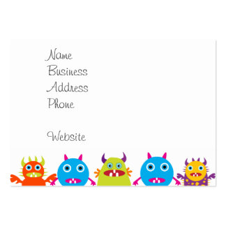 Colorful Funny Monster Party Creatures Bash Pack Of Chubby Business Cards