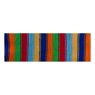 Colorful knitted stripes pack of skinny business cards