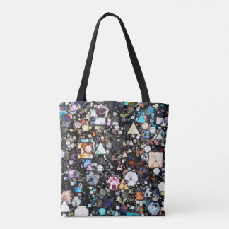 Colorful Layers of Geometric Shapes Tote Bag