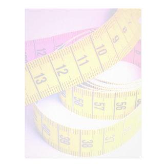 Colorful measuring tape 21.5 cm x 28 cm flyer