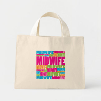 Colorful Midwife Mini Tote Bag