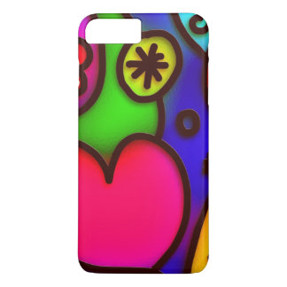 colorful modern love 2 iPhone 7 plus case