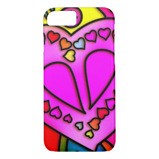 colorful modern love iPhone 7 case