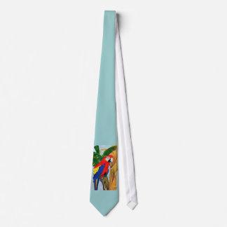 Colorful Parrot Tie