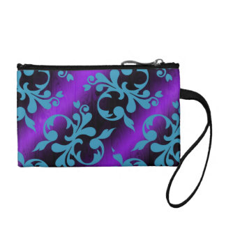 Colorful pattern coin clutch coin wallets