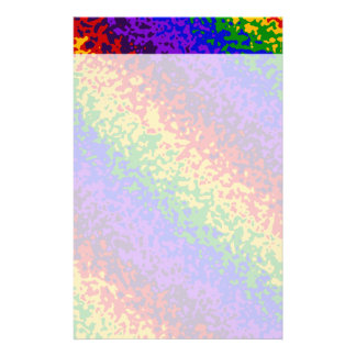 Colorful Rainbow Paint Splatters Abstract Art Stationery Paper