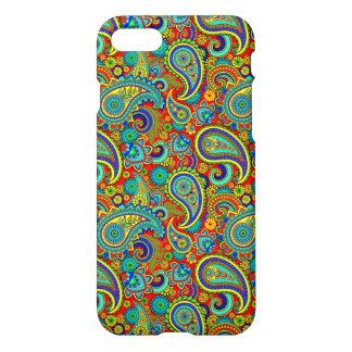Colorful Retro Floral Paisley Pattern iPhone 7 Case