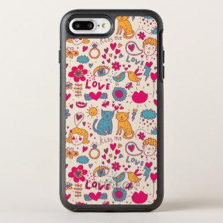 Colorful romantic pattern OtterBox symmetry iPhone 7 plus case