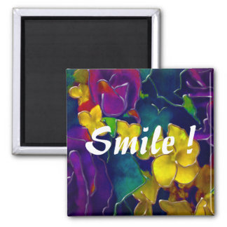Colorful Smile Square Magnet