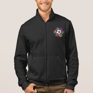 Colorful Soccer Ball Mens Jacket