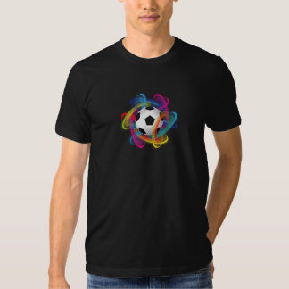 Colorful Soccer Ball Mens T-Shirt