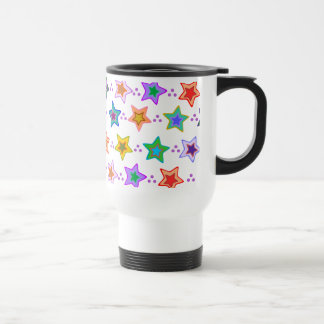 Colorful star pattern stainless steel travel mug