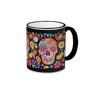 Colorful Sugar Skull Mug - Day of the Dead