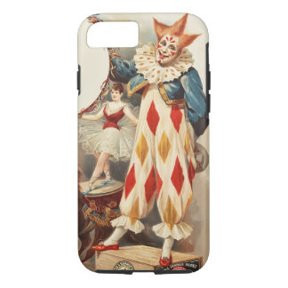 Colorful Vintage Circus Clown iPhone 7 Case