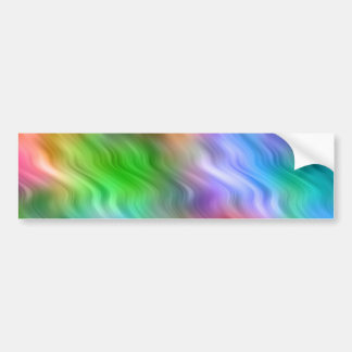 Colorful Wildflowers Wavy Texture Bumper Sticker