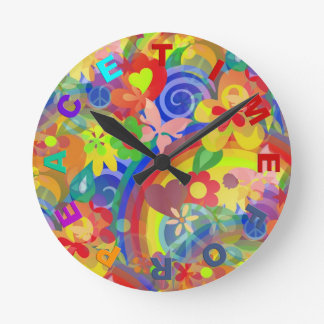 Colors of Flower Power + clock face