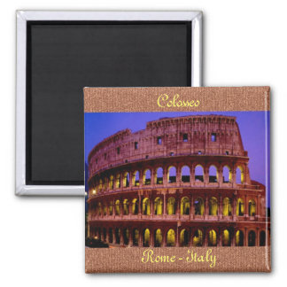 Colosseo (Rome) Square Magnet