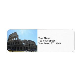 Colosseum- Rome Return Address Label