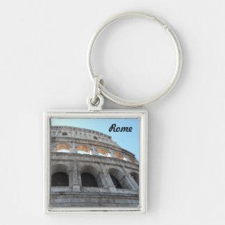 Colosseum- Rome Silver-Colored Square Key Ring