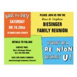 Colour Block Save the Date Reunion Postcard