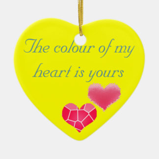 Colour of my heart ceramic heart decoration