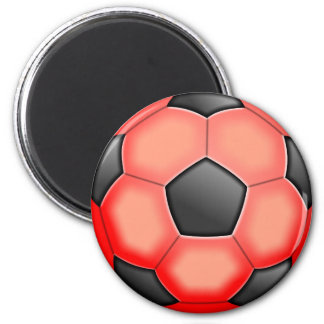 Colourful Soccer Balls 6 Cm Round Magnet