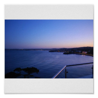 Colourful sunset over Paington and Brixham Poster