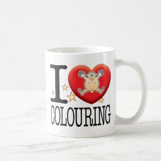 Colouring Love Man Basic White Mug