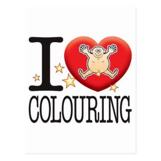 Colouring Love Man Postcard
