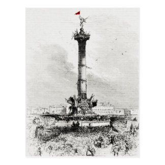Column,  Place de la Bastill, Paris Postcard