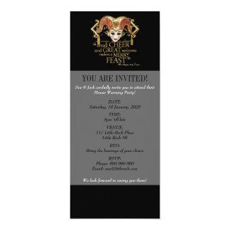 Comedy Of Errors Feast Quote (Gold Version) 10 Cm X 24 Cm Invitation Card