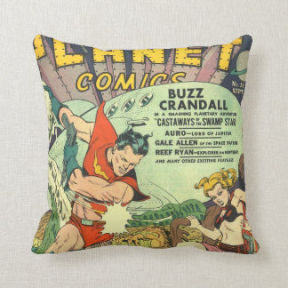 Comic Planet Throw Cushion
